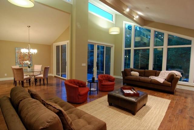 Tega Cay Lake House traditional-living-room