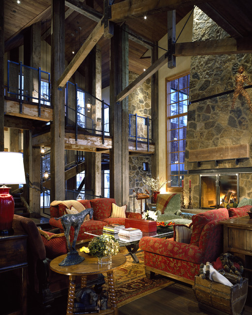 Telluride Residence eclectic-living-room