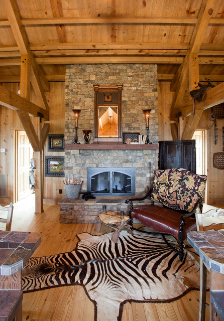 Tennessee Barn Home traditional-living-room