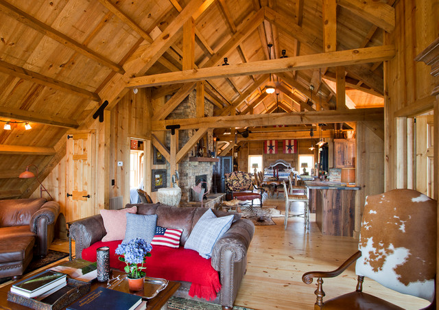 Tennessee Barn Home Traditional Living Room Other