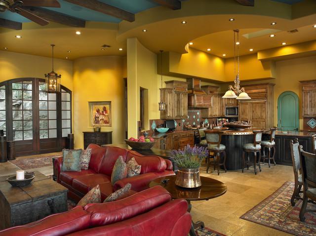 Territorial eclectic-living-room