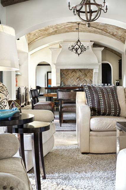 Texas Chic mediterranean living room