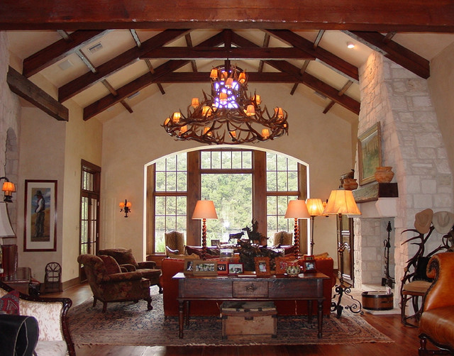 Wonderful Texas Hill Country Traditional Living Room
