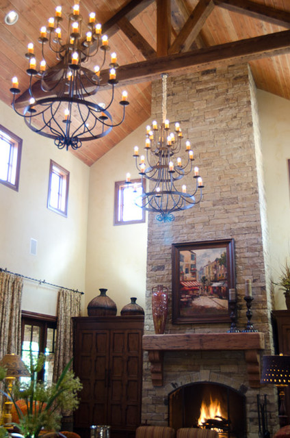 Texas hill country style living room traditional for Texas themed living room