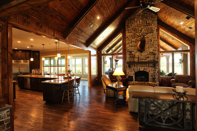 Texas Ranch - Traditional - Living Room - Houston - by ...