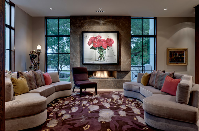 texas residence - contemporary - living room - dallas -domiteaux