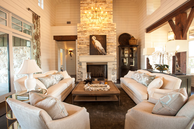 Charmant Texas Southern Living Showcase Home Farmhouse Living Room