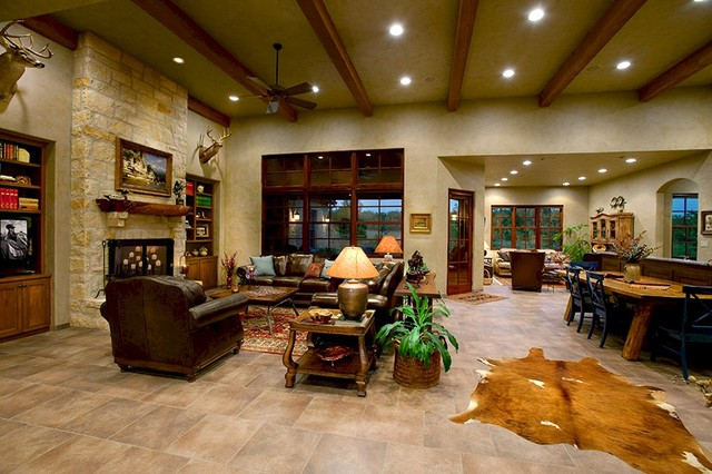 texas tuscan ii - mediterranean - living room - austin -tony