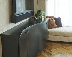 Textured surface - contemporary condo contemporary-living-room