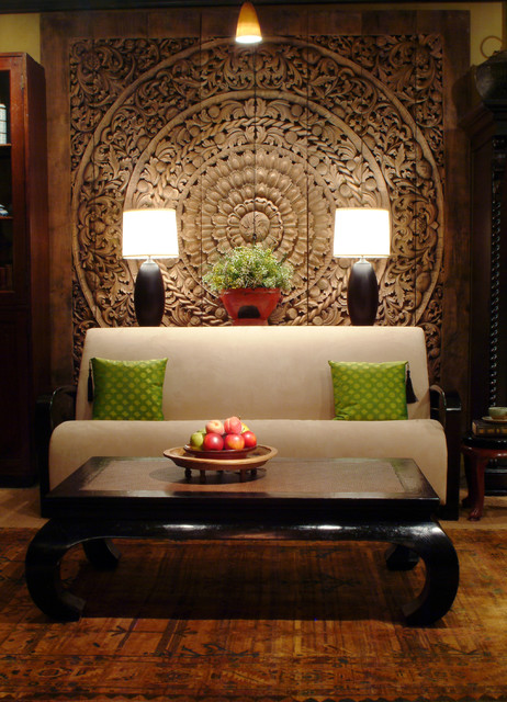 Thai inspired modern design asian living room for Asian home decor