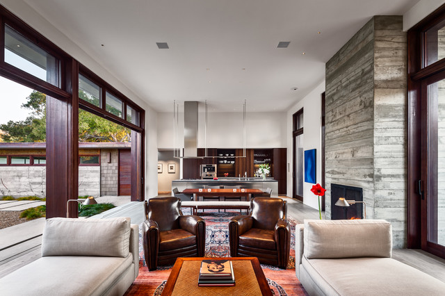 Thayer Residence contemporary-living-room