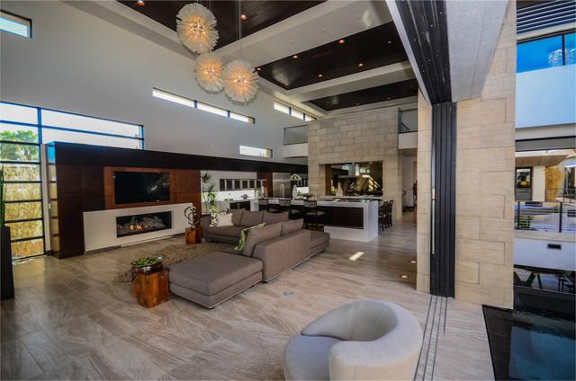 The 2013 nahb new american home modern living room for Modern home decor las vegas