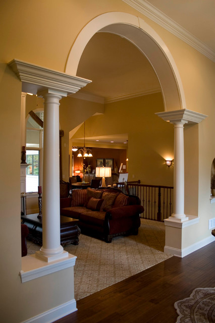 Living Room Designs With Pillars : The adriana mediterranean living room cleveland by