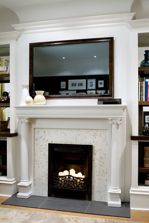 The great cover up 7 ways to disguise your tv tidbits Hide fireplace ideas