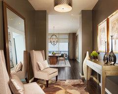 The Austonian Model Unit contemporary-living-room
