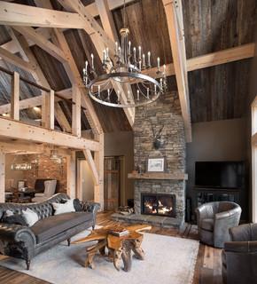 amazing award winning living room | The Award-Winning Marshal - Rustic - Living Room - New ...