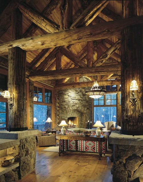 The Bachelor Gulch Lodge traditional-living-room