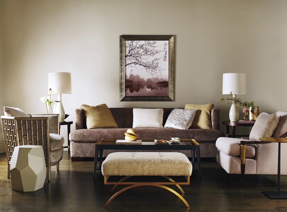 Minimalist living room photo in Milwaukee