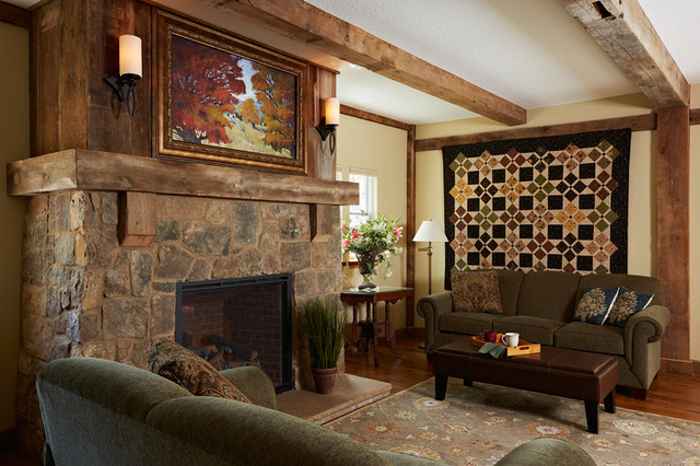 The Barn Stone Fireplace Reclaimed Barnwood Hidden Tv