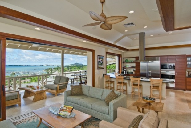 The Bay House Tropical Living Room Hawaii By