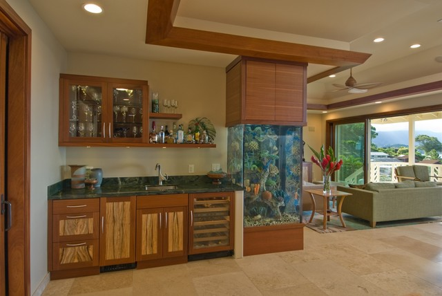 The bay house tropical living room hawaii by for Archipelago hawaii luxury home designs