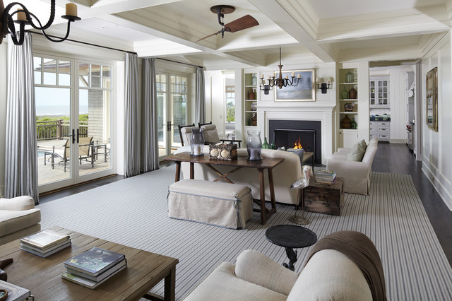The Beach House Beach Style Living Room Charleston By The