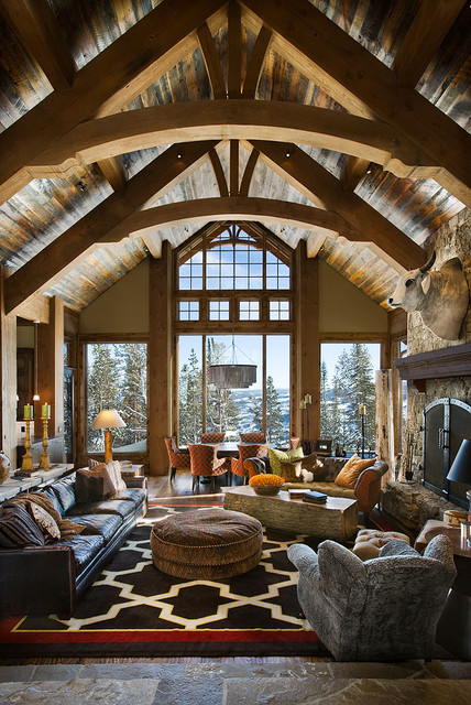 The Bear Trap Interior contemporary living room