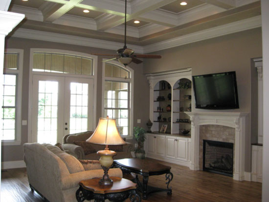 The Birchwood Plan 1239 Traditional Living Room Charlotte