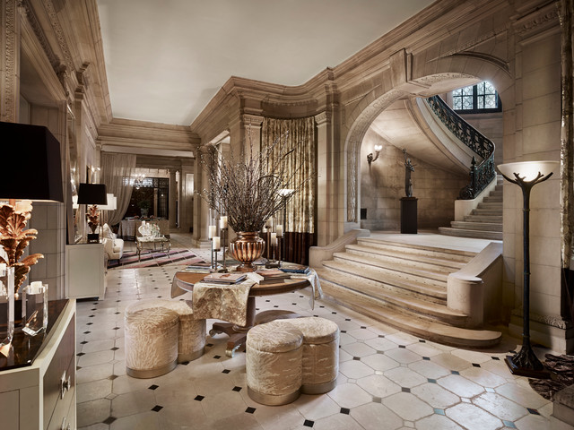 living room huge traditional formal and enclosed marble floor living room idea in new york - Mansion Living Room