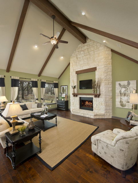The Breckenridge Model Home traditional-living-room