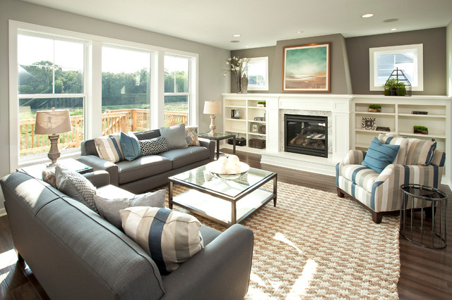 The Broadmoor - Fall 2013 Parade of Homes Model transitional-living-room