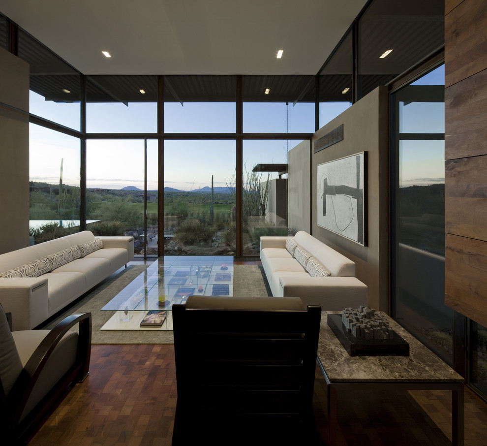 Example of a large southwest living room design in Phoenix