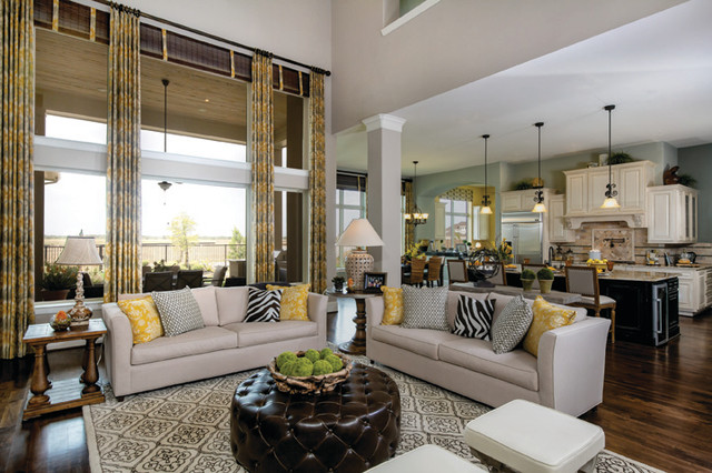 The Burleigh Traditional Living Room Houston By David Weekley Homes