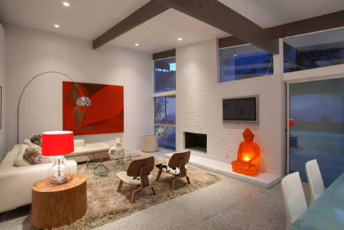 The Butterfly House // Palm Springs midcentury-living-room
