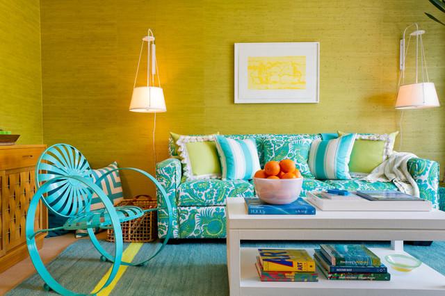 The Cabana: Scott Sanders LLC contemporary-living-room