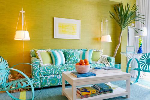 Donnau0027s Blog: Summer Color Combination: Turquoise U0026 Green | Photographers  Rikki Snyder, Designer. Contemporary Living Room ... Part 50