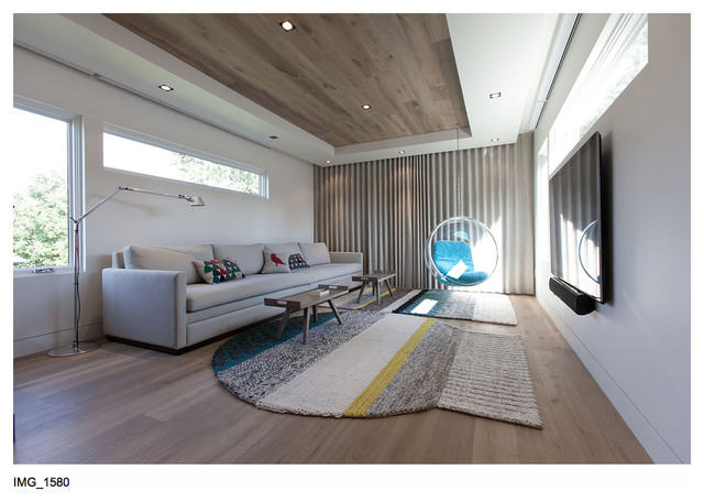 """The """"Cabin"""" on the Lake contemporary-living-room"""