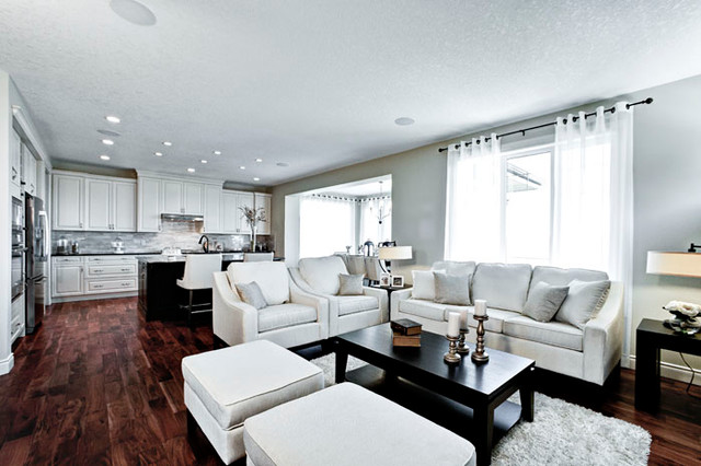 The Cambrian IV Showhome in Calgary, AB contemporary-living-room