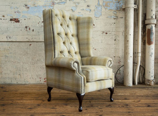 The Charleroi tartan pattern chesterfield armchair - Rétro ...