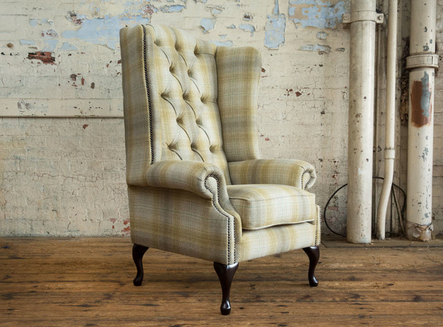 Sensational The Charleroi Tartan Pattern Chesterfield Armchair Pabps2019 Chair Design Images Pabps2019Com