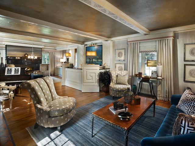traditional living room by Gacek Design Group, Inc.