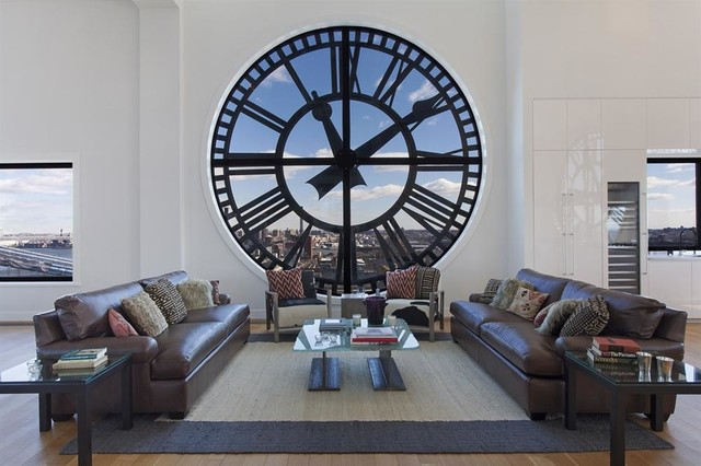 The Clock Tower Contemporary Living Room New York