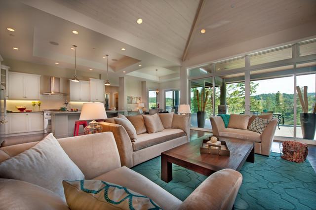 The Cooper Show Home contemporary-living-room
