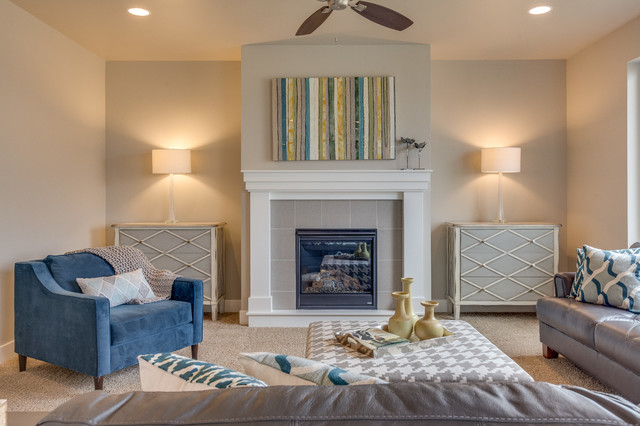 The Cottonwood Exeter Living Room Boise By Alturas Homes