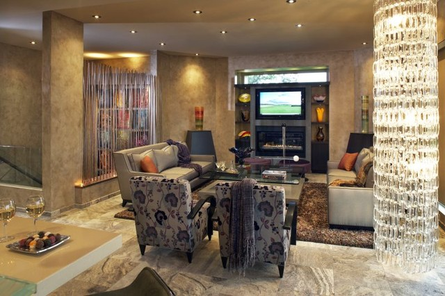 The Crib contemporary-living-room