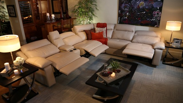 The Dawson Power Reclining Sectional traditional-living-room : jeromes sectional sofas - Sectionals, Sofas & Couches