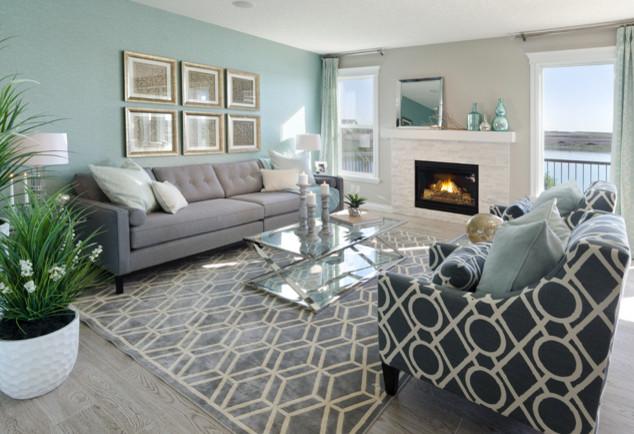 The Everett Showhome Legacy Calgary Ab Craftsman Living Room Calgary By Morrison Homes