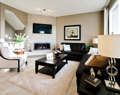 The Fiesta II in Hillcrest in Airdrie, AB contemporary-living-room