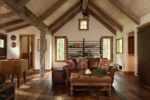 Cup half full ceiling beams Rustic style attic design a corner full of passion