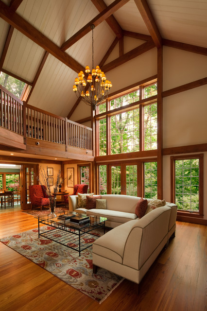The Gathering House Barn Home Traditional Living Room